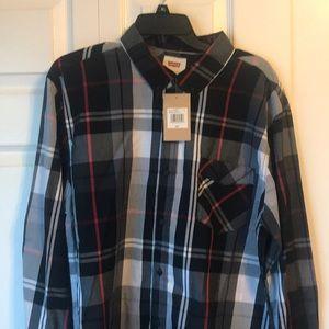 Levi's button down plaid shirt